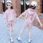女童套裝女夏短袖新款4純棉5兒童6夏季7運動9兩件套3-11周歲 mc6721『優童屋』