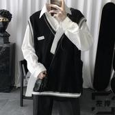針織馬甲男V領無袖毛衣背心【左岸男裝】