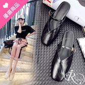 歐美時尚個性休閒瑪莉珍平底拖鞋/3色/35-43碼 (RX0421-A21-9) iRurus 路絲時尚