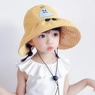 兒童遮陽帽 兒童帽子遮陽帽夏季女童涼帽防曬帽寶寶空頂太陽帽大帽檐防紫外線-Ballet朵朵