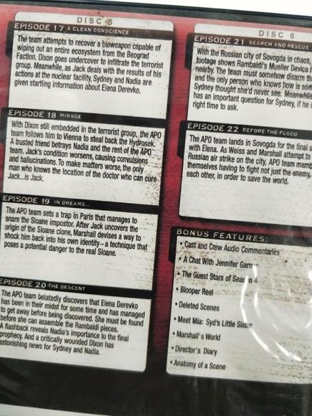 挖寶二手片-R14-正版DVD-歐美影集【雙面女間諜 第4季/第四季 全6碟】-(直購價)海報是影印
