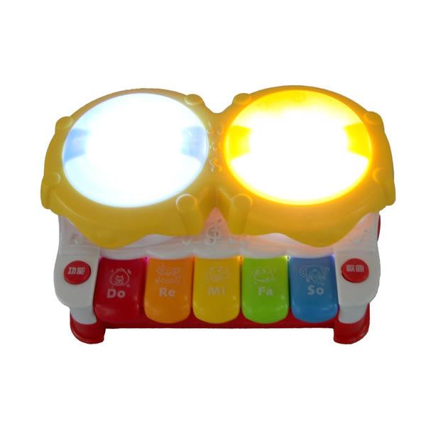*粉粉寶貝玩具* 多功能燈光音樂手拍鼓~會說故事喔~寶寶故事琴電子琴手拍拍鼓