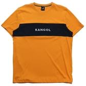 KANGOL 短袖 短T 黃藍 橫條色塊 刺繡 袋鼠 棉 男 (布魯克林) 6021101062