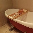 浴缸架 包郵實木浴缸架 衛生間浴缸 收納置物架 泡澡架 浴室多功能置物架【快速出貨八折下殺】