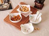 兒童碗   卡通陶瓷碗寶寶家用吃飯碗湯碗可愛兒童碗筷套裝學生早餐碗勺餐具   瑪麗蘇