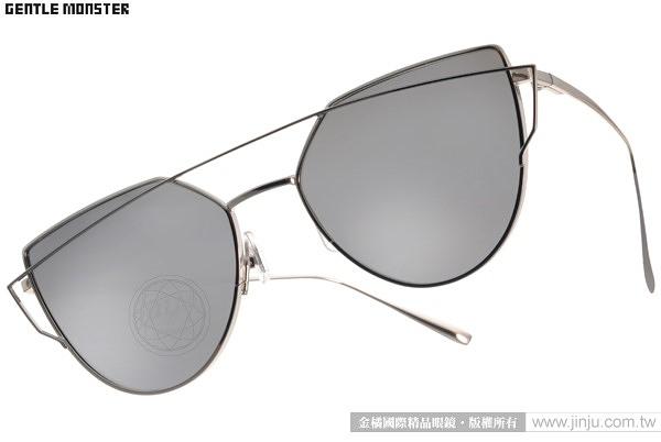 GENTLE MONSTER 太陽眼鏡 LOVEPUNCH C02 (銀-白水銀) 2016新款 造型貓眼款 # 金橘眼鏡