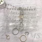 塑膠透明皮帶女簡約百搭韓國學生個性圓扣帶圓圈裝飾洋裝腰帶寬 台北日光