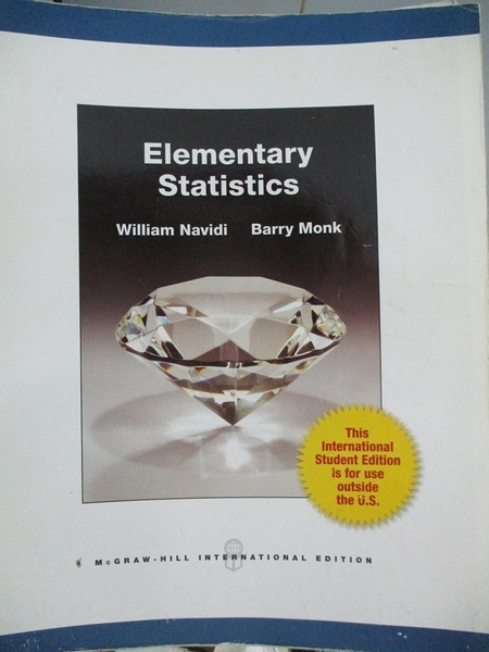 【書寶二手書T6/大學商學_QXL】Elementary Statistics. by William Navidi,