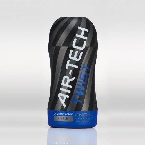 滿額送贈品 情趣用品 日本TENGA Air-Tech Twist RIPPLE 超級空壓旋風杯 重複使用 溫柔藍 ATT-002