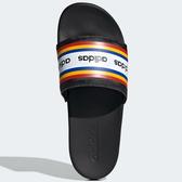 ADIDAS ADILETTE COMFORT 女鞋 拖鞋 休閒 軟底 輕量 黑 彩色【運動世界】EF0854