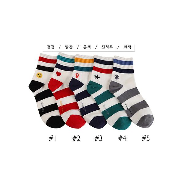 韓國符號造型短襪-多款任選 (SOCK-234-W)