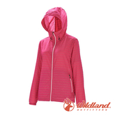 【wildland 荒野】女 麻花條輕量時尚抗UV外套『桃紅』0A71909 戶外 休閒 運動 防曬 露營 登山 騎車