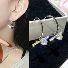 925純銀針  韓國優雅氣質   高貴典雅設計耳環-維多利亞190492