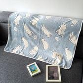 空調毯  春夏日繫小貓咪毛毯蓋腿辦公室午睡毯空調毯寶寶蓋毯法萊絨毛毯 夢藝家
