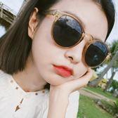 ulzzang眼鏡女韓版潮復古原宿2018新款墨鏡圓臉網紅街拍太陽鏡ins