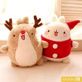 呆萌小麋鹿 聖誕土豆兔毛絨玩具公仔布娃娃 兒童玩偶 聖誕節禮物gogo購