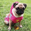 Woody輕便兩腳雨衣(中大型)3L-粉色