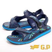 【G.P】時尚休閒柔軟舒適兩用涼鞋 男款-藍(另有綠)