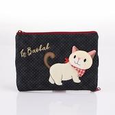 紅領巾啵啵貓躲貓貓手機包/拼布包包
