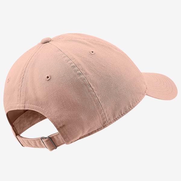 NIKE HERITAGE 86 CAP 帽子 老帽 休閒 刺繡LOGO 粉橘【運動世界】913011-800