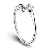 韓版女飾氣質女雙鑽銀戒指 女款無定飛環開口鍍銀指環《小師妹》ps483