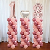 情人節裝飾氣球立柱路引 商場櫥窗氣球場景布置【英賽德3C數碼館】