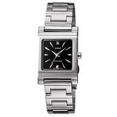 【CASIO】高雅典藏方形不鏽鋼腕錶-黑面(LTP-1237D-1A2)