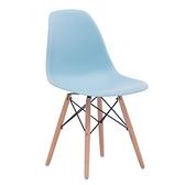 E-home EMS北歐經典造型餐椅-藍色