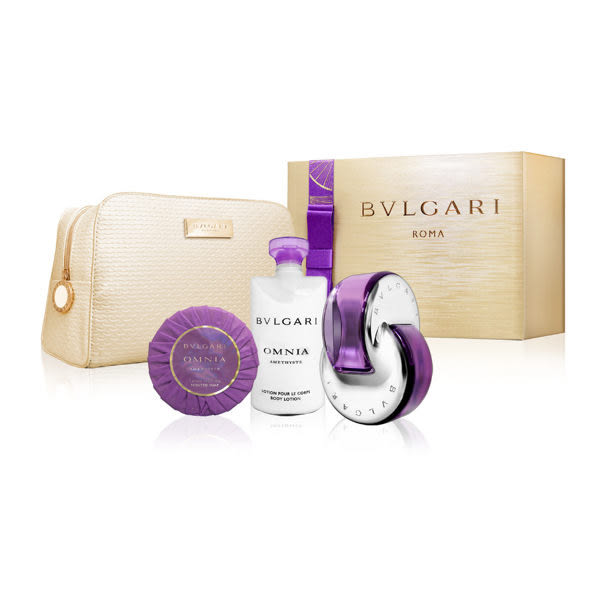 BVLGARI 寶格麗 紫水晶香氛禮盒(淡香水65ml+香氛皂75g+身體乳75g) (OS小舖)