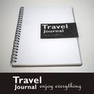 《Travel Journal》黑色典雅- 旅遊筆記本/鐵環裝筆記本/記錄簿/筆記本/霧面膠片-【Fruit Shop】