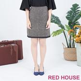 RED HOUSE-蕾赫斯-毛料滾邊窄裙(共兩色)