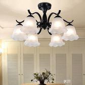 吊燈鐵藝術復古客廳臥室餐廳地中海現代簡約大氣吸頂燈具 igo  享購