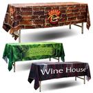 [客製化] 全彩熱昇華半罩式桌巾 (以60x180cm的桌子做為範例) S1-39007