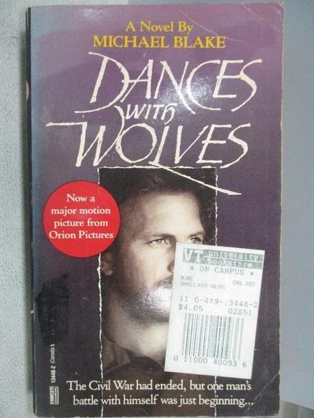 【書寶二手書T2/原文小說_CM5】Dances with Wolves_Michael Blake