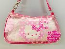 【震撼精品百貨】Hello Kitty_凱蒂貓~Sanrio HELLO KITTY防水收納包/透明手提包-圓點扶桑花#67020