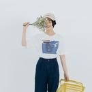 Queen Shop【01038869】抽象水彩畫印圖短袖上衣*現+預*