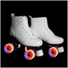 直排輪 溜冰場成年4輪雙排輪滑鞋雙排溜冰鞋旱冰鞋閃光溜冰鞋雙排輪【八折搶購】