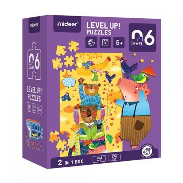 《 MiDeer 》進階式拼圖-想像的世界(LEVEL 6) / JOYBUS玩具百貨