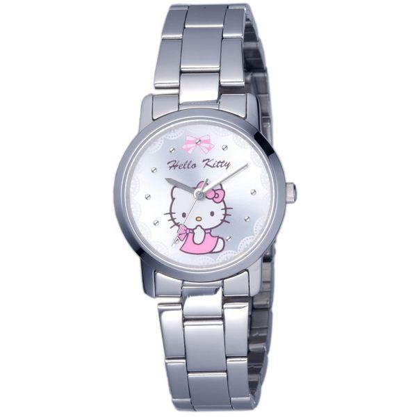 【HELLO KITTY】凱蒂貓可愛滿分俏麗手錶 (銀 LK680LWWI)