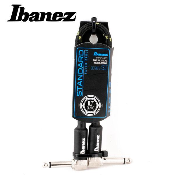 小叮噹的店-IBANEZ SI07P-BG WOVEN 0.7呎 編織 短導線(黑綠)