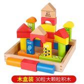 幼兒童早教大積木益智玩具嬰兒可啃咬0-1-2-3周歲6男女孩寶寶小孩【新店開張8折促銷】