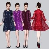 中大尺碼洋裝 重工網紗刺繡燙鑽兩件套連身裙 4色 M-6XL #ybk6055 ❤卡樂store❤