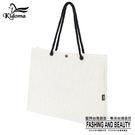 手提袋-編織袋(L)-米白-01C