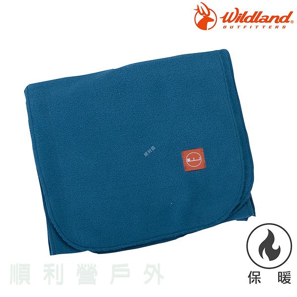 荒野WILDLAND 輕柔PILE保暖圍巾 W2010 湖水藍 刷毛圍巾 不易產生靜電 OUTDOOR NICE