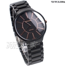 TIVOLINA 未來生活 薄型 陶瓷錶 防水錶 藍寶石水晶鏡面 女錶 男錶 中性錶 黑色 MAW3718-K