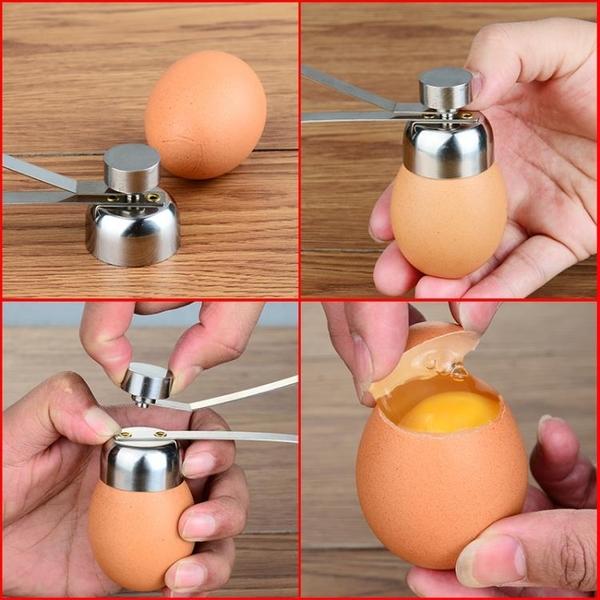 304不銹鋼開蛋器雞蛋開殼器糯米蛋打孔器切鴨蛋破殼器敲蛋器【八折搶購】