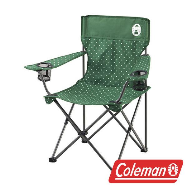【美國Coleman】圓點綠渡假休閒椅 CM-26735 休閒椅 導演椅 靠背椅 折合椅 折疊椅 休閒椅 戶外椅 露營