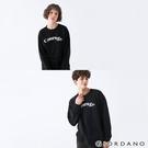 【GIORDANO】中性款簡約文字大學T恤 - 02 黑