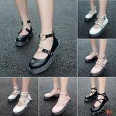 娃娃鞋 復古森 系圓頭 鬆糕厚底 娃娃鞋 單鞋 包頭小皮鞋子