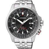 CITIZEN PROMASTER 光動能雙時區腕錶-黑/46mm BJ7071-54E